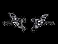 Bonamici Racing - Bonamici Adjustable Billet Rearsets: APRILIA RSV 1000 / TUONO (04-08)