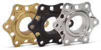 SUPERLITE - SUPERLITE BILLET ALUMINUM OUTER FLANGE COVERS FOR SIX CUSH DRIVE TYPE: Panigale V4