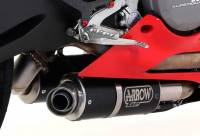 Exhaust - Slip-Ons - Arrow - ARROW  GP2 BLACK STEEL SLIP-ON EXHAUST: DUCATI PANIGALE 899