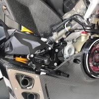 TWM BILLET ADJUSTABLE REARSETS: Ducati Panigale V4/V4S