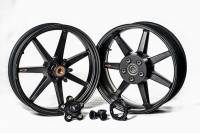 BST Wheels - Rapid TEK 5 Split Spoke - BST Wheels - BST Black Mamba 7 SPOKE WHEEL SET [6 inch rear]: Yamaha R1 15+