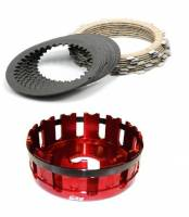 EVR - EVR Ducati 12T Sintered Plates & Clutch Basket Set: 1098 / Hypermotard 1100 [Black Basket]