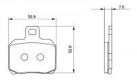 Brembo - Brembo 34mm Rear Caliper Brake Pads - Image 3