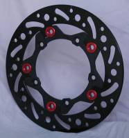 Brake - Rotors - Braketech - BrakeTech AXIS Iron Race Series Rear Rotor: Ducati Monster 1100 EVO [245mm X5mm]