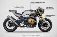 Zard - ZARD 2>2 TITANIUM RACING FULL EXHAUST SYSTEM WITH REMOVABLE DB KILLERS: BMW R Nine T