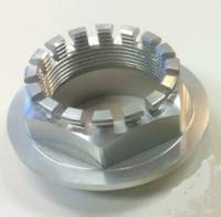 Wheels & Tires - Wheel Parts & Accessories - Motowheels - MW Billet 6 Pt. Wheel Nut: 748-998, 848, SF848, MTS1000-1100, S2R-S4RS, M796-1100, Mhe, Hyperstrada/Hypermotard 821 [Silver Anodized]