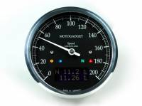Electrical, Lighting & Gauges - Gauges & Gauge Kits - Motogadget - Motogadget Chronoclassic Speedo DarkEdition