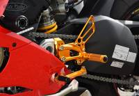 Sato Racing Adjustable Billet Rearsets: Ducati Panigale V4/ S / R / Speciale