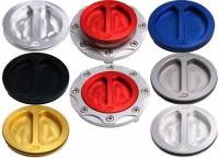 Oberon - Oberon Billet Aluminum Fuel Cap: 848 / 1098 / 1198 / 748 / 916 / 996 / 998 / Monster / ST / MV Agusta [Silver Base]