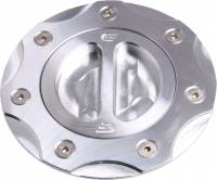 Body - Fuel Caps & Tanks - Oberon - Oberon Billet Aluminum Fuel Cap [Raw Clear Anodize]: Ducati 848-1098-1198, 748-916-996-998, Monster 1200-821-797, ST, MV Agusta