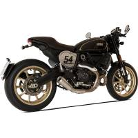 HP Corse - HP CORSE GP07 SATIN STEEL SLIP-ON EXHAUST: Ducati Scrambler 800 / Cafe Racer