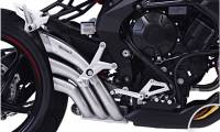 HP Corse - HP CORSE HYDROTRE SATIN SLIP-ON EXHAUST WITH STAINLESS COVER: MV AGUSTA Rivale 800