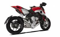 HP Corse - HP CORSE HYDROTRE SATIN SLIP-ON EXHAUST WITH STAINLESS COVER: MV AGUSTA Rivale 800 - Image 2