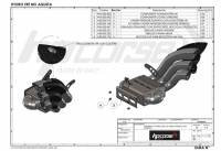 HP Corse - HP CORSE HYDROTRE SATIN SLIP-ON EXHAUST WITH CF COVER: MV AGUSTA Rivale 800 - Image 3