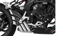 HP Corse - HP CORSE HYDROTRE SATIN SLIP-ON EXHAUST WITH CF COVER: MV AGUSTA Rivale 800