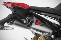 "Zard - ZARD ""Top Gun"" Stainless Steel Racing Slip-Ons: Ducati Hypermotard 950/SP"