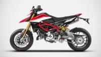 "Zard - ZARD ""Top Gun"" Stainless Steel Racing Slip-Ons: Ducati Hypermotard 950/SP - Image 4"