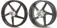 """BST Wheels - BST Diamond Tek Carbon Fiber Wheel Set [5.0"""" Rear]: Triumph Thruxton/R '16+"""