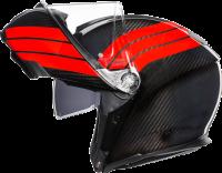 Helmets & Accessories - Helmets - AGV - AGV SPORT MODULAR CARBON/RED STRIPES