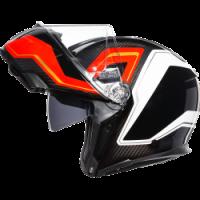 Helmets & Accessories - Helmets - AGV - AGV SPORT MODULAR CARBON/RED/WHITE SHARP