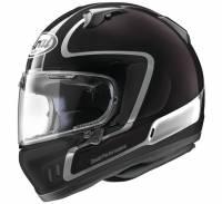 Arai - Arai Defiant-X Outline Helmet: Black-Dark Purple