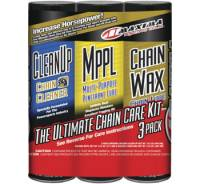 Tools, Stands, Supplies, & Fluids - Fluids - Maxima  - Maxima Chain Wax Ultimate Chain Care Kit