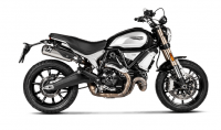 Exhaust - Full Systems - Akrapovic - Akrapovic Slip-On Exhaust Ducati Scrambler 1100 2018-2019