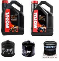 Motul - Ducati Oil Change Kit: MOTUL 7100 10W-40 or 15W-50 Full Synthetic Oil & Choice Of Oil Filter [All Ducatis Except PANIGALE]