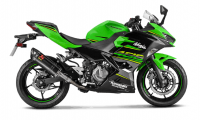 Exhaust - Slip-Ons - Akrapovic - Akrapovic Slip-On Exhaust Kawasaki Ninja 400 / Z400 2018-2019