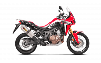 Exhaust - Slip-Ons - Akrapovic - Akrapovic Slip-On Exhaust Honda Africa Twin 2016-2019