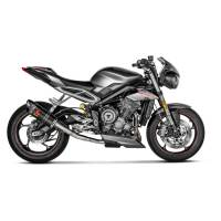 Exhaust - Slip-Ons - Akrapovic - Akrapovic Slip-On Exhaust Triumph Street Triple 765 R / RS / S 2017-2019