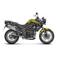 Exhaust - Slip-Ons - Akrapovic - Akrapovic Slip-On Exhaust Triumph Tiger 800 2011-2017