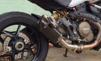 Exhaust - Mid Pipes - Shift-Tech - Shift-Tech Carbon Fiber Exhaust: Ducati Monster 1200/S '14-'16