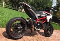 Shift-Tech - Shift-Tech Carbon Fiber/Titanium GP2 Exhaust: Ducati Hypermotard 821/939