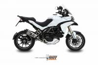 Exhaust - Headers - Mivv Exhaust - MIVV Suono Stainless with Carbon Cap Exhaust: Ducati Multistrada 1200 '10-'14