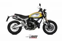 Exhaust - Headers - Mivv Exhaust - MIVV GP PRO Carbon Slip-On Exhaust: Ducati Scrambler 1100