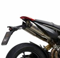 SC Project - SC Project S1 Titanium with Carbon Caps Exhaust: Ducati Hypermotard 950/SP