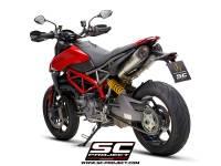 SC Project - SC Project S1 Titanium with Carbon Caps Exhaust: Ducati Hypermotard 950/SP - Image 3