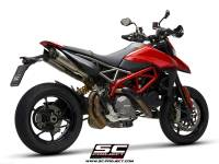 SC Project - SC Project S1 Titanium with Carbon Caps: Ducati Hypermotard 950/SP