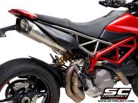 SC Project - SC Project S1 Titanium with Carbon Caps Exhaust: Ducati Hypermotard 950/SP - Image 5