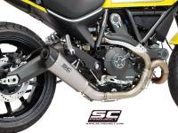 SC Project - SC Project Conical Titanium Slip-On: Ducati Scrambler