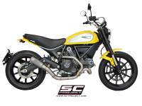 SC Project - SC Project CR-T Carbon or Titanium [Stainless Steel Headers] Full Exhaust System: Ducati Scrambler