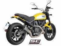 SC Project - SC Project CR-T Carbon or Titanium [Stainless Steel Headers] Full Exhaust System: Ducati Scrambler - Image 3
