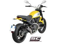 SC Project - SC Project CR-T Carbon or Titanium [Stainless Steel Headers] Full Exhaust System: Ducati Scrambler - Image 4