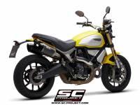 SC Project - SC Project MTR Carbon Fiber Slip-On: Ducati Scrambler 1100