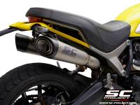 SC Project - SC Project S1 Titanium Slip-On: Ducati Scrambler 1100