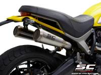SC Project - SC Project Conical 70's Stainless Slip-On: Ducati Scrambler 1100
