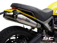 SC Project - SC Project Racer Conical Stainless Slip-On: Ducati Scrambler 1100
