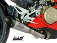 Exhaust - Full Systems - SC Project - SC Project S1 Titanium w/Carbon Cap Exhaust [includes de-cat]: Ducati Panigale V4/S/R