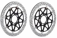 Brembo - BREMBO Pistabassa 320mm X 6.75mm Racing Rotors: [Pair] Panigale V4/V4R / Panigale 1199/1299 [Will require racing billet two piece or monoblock calipers]